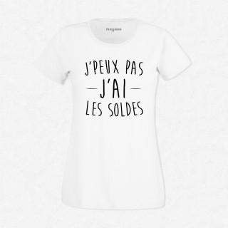 T-shirt J'peux pas j'ai les soldes