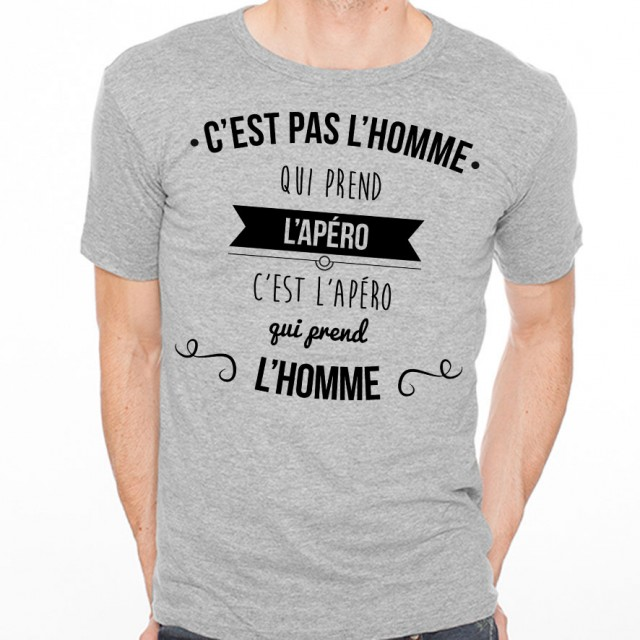 T-shirt C'est pas l'homme qui prend l'apéro