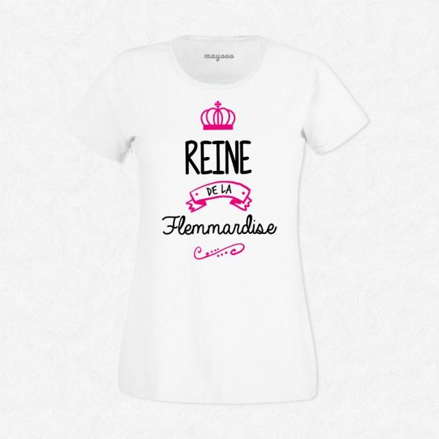 T-shirt Reine de la flemmardise