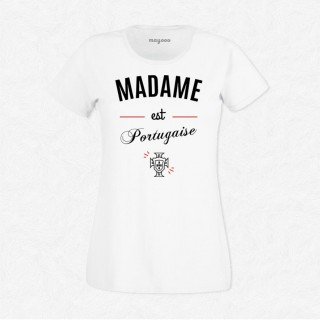 T-shirt Madame est Portugaise