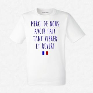 T-shirt Merci de nous avoir fait vibrer