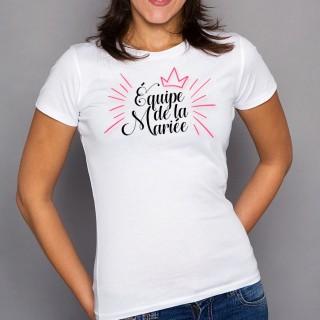 T-shirt Équipe de la mariée
