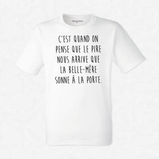 T-shirt La belle mère sonne à la porte