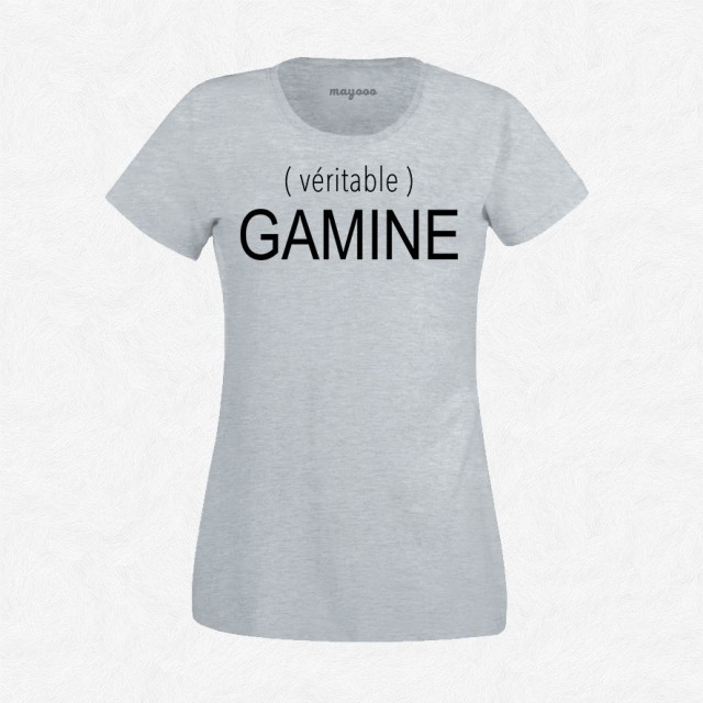 T-shirt Véritable gamine