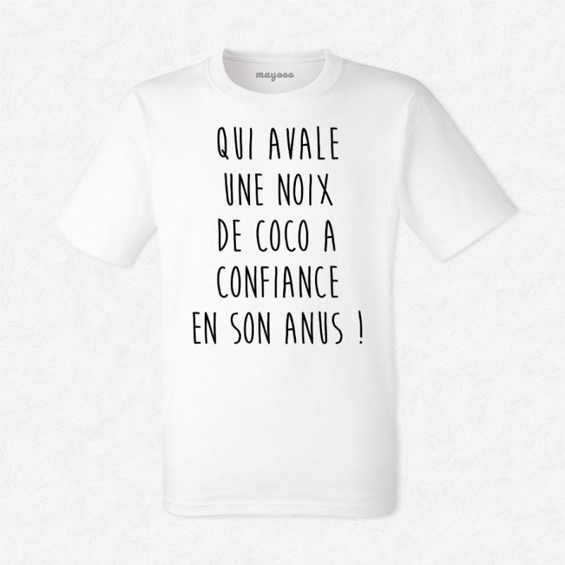 T-shirt Qui avale une noix de coco...