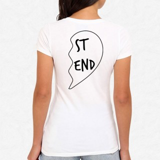 T-shirt Best Friend Coeur 2