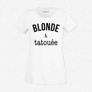 T-shirt Blonde & tatouée