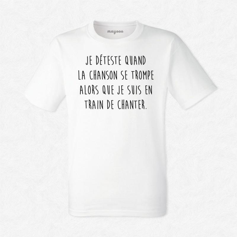 T-shirt Je déteste quand la musique se trompe