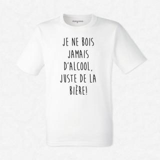T-shirt Je ne bois pas d'alcool