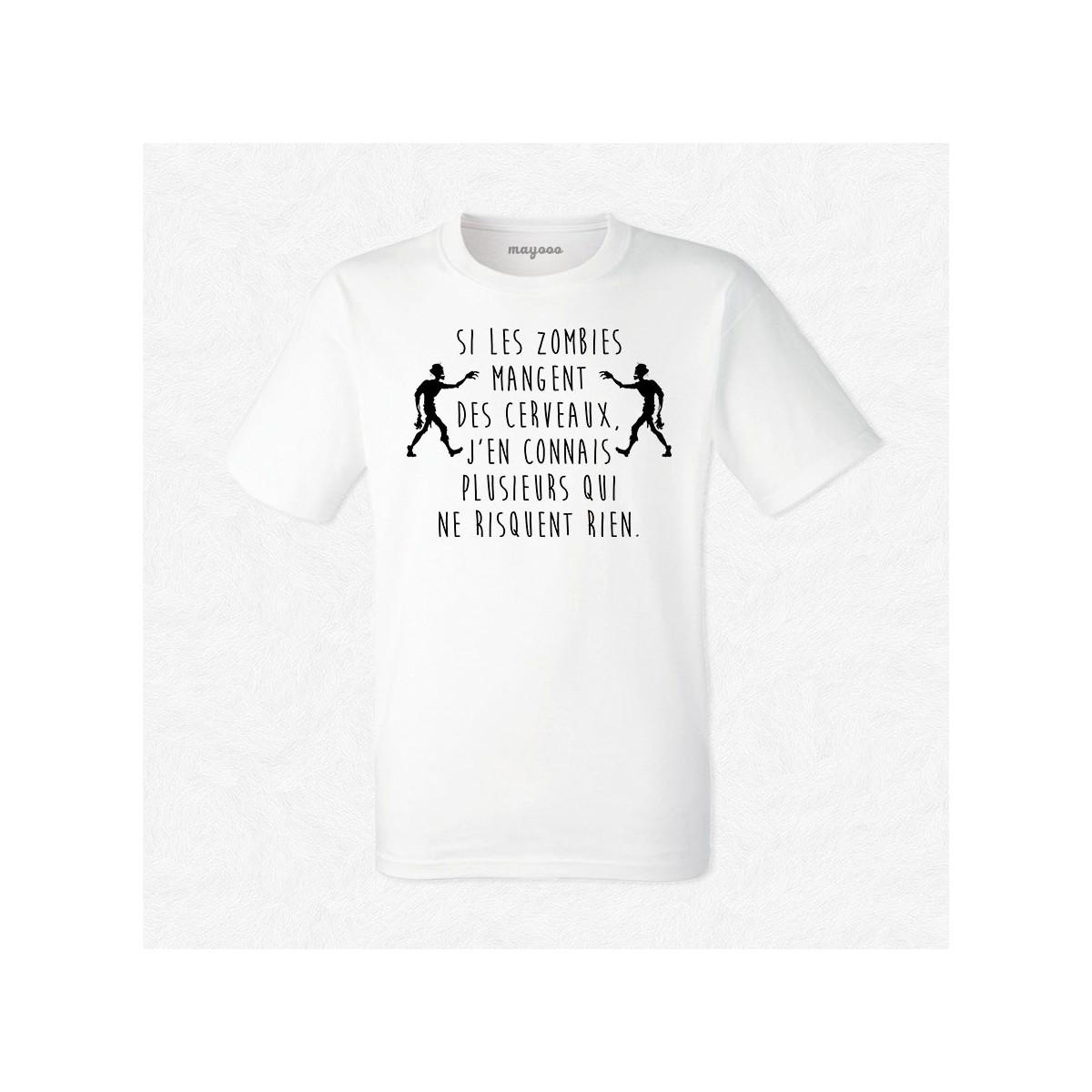 T-shirt Si les zombies mangent des cerveaux