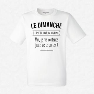 T-shirt Le dimanche c'est jogging