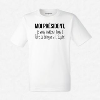 T-shirt La bringue à l'Élysée