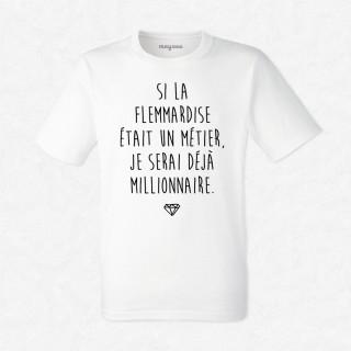 T-shirt La flemmardise un métier