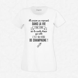 T-shirt Un verre de champagne