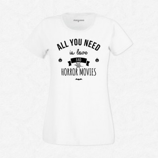 T-shirt Love and Horror Movies