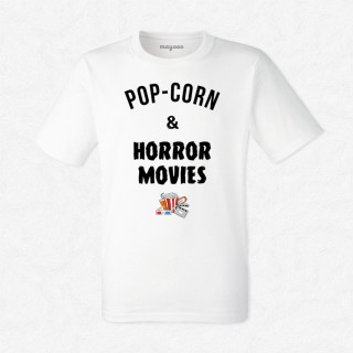 T-shirt Pop-corn and horror movies