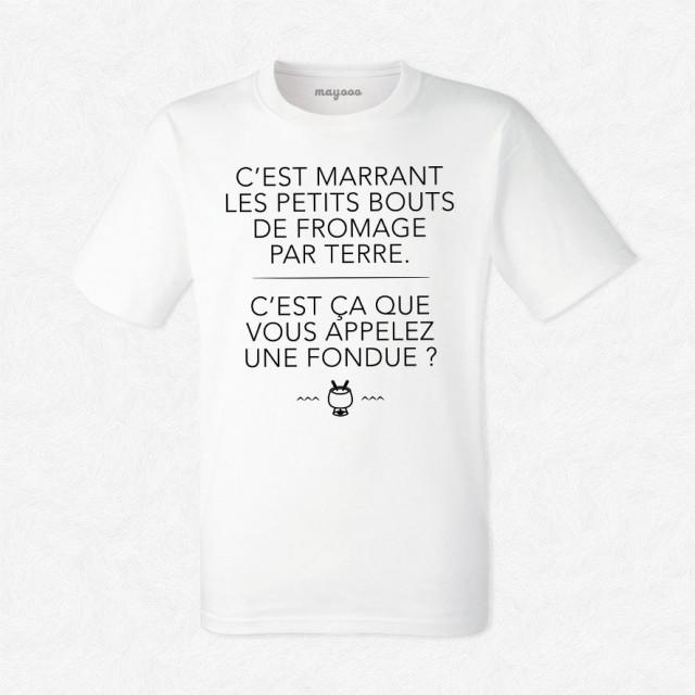 T-shirt C'est ça que vous appelez une fondue