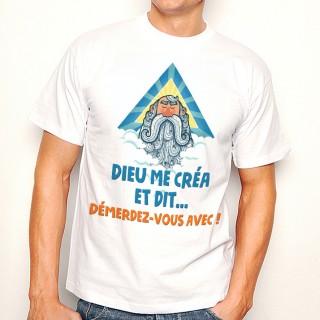 T-shirt Dieu me créa