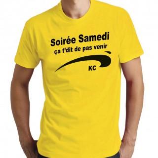 T-shirt Soirée samedi