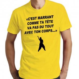 T-shirt C'est marrant comme ta tête