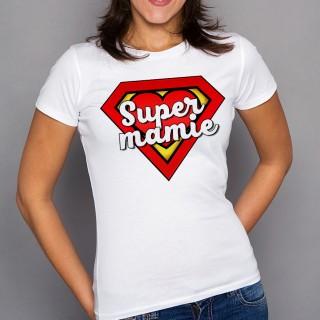 T-shirt Super Mamie