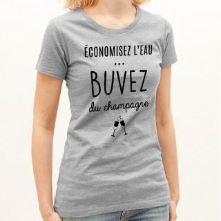 T-shirt Buvez du champagne