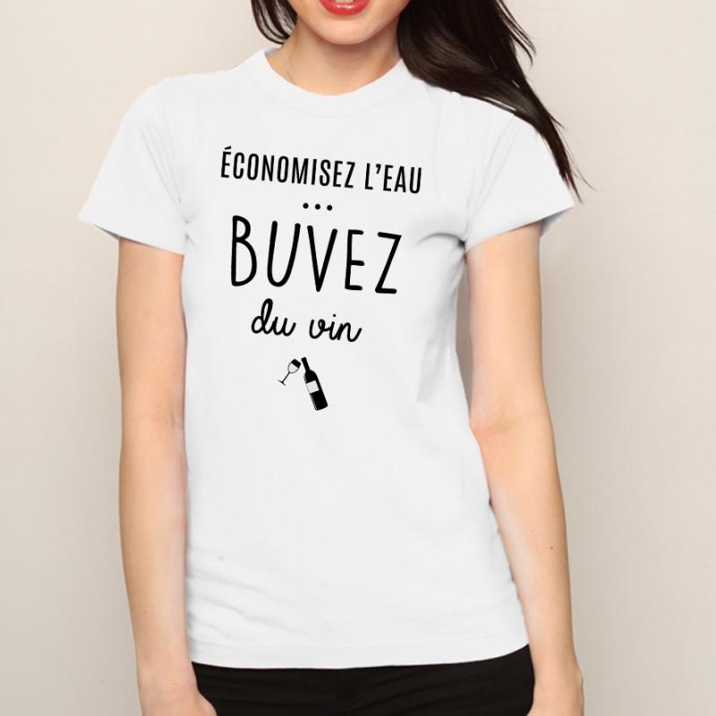 T-shirt Buvez du vin