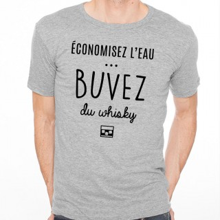 T-shirt Buvez du whisky