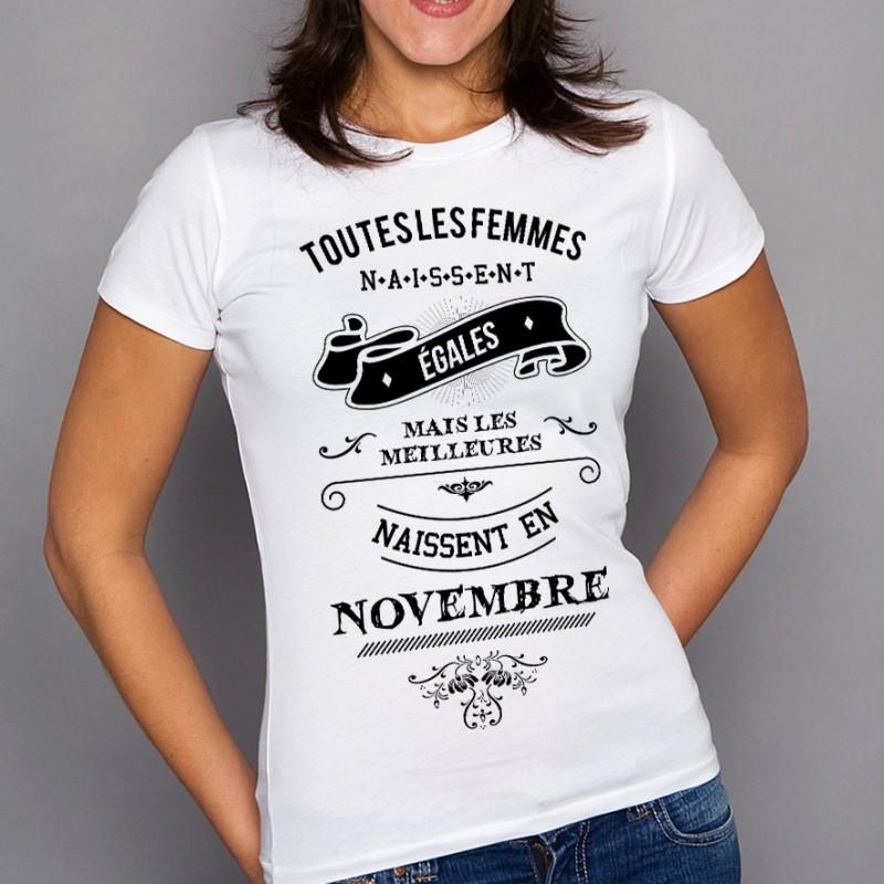 T Novembre Shirt De Naissance Mois SUMVzp