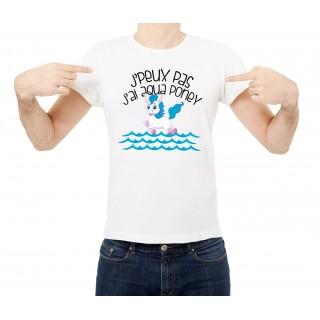 T-shirt Aqua poney