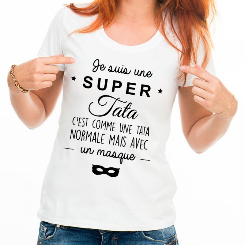 T-shirt Je suis une super tata