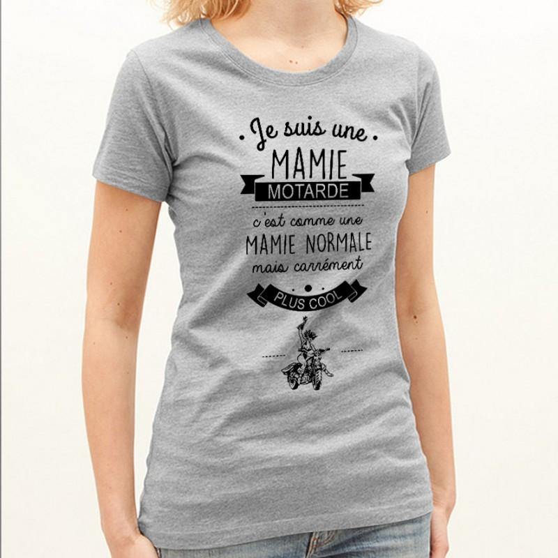 T-shirt Mamie motarde
