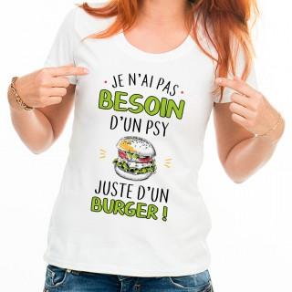 T-shirt femme Juste un burger
