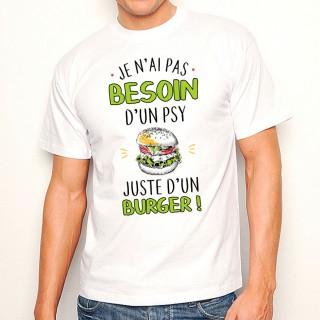 T-shirt homme Juste un burger
