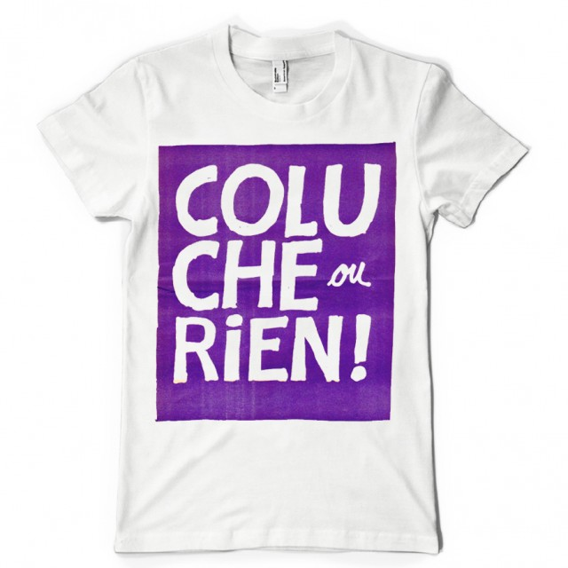 T-shirt Coluche ou RIEN