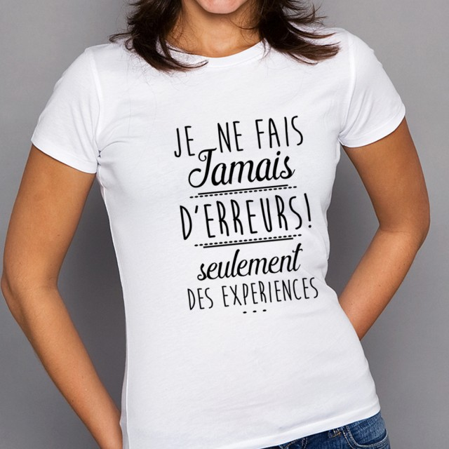 T-shirt EXPERIENCES