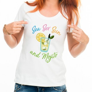T-shirt Sea Sex Sun and Mojito