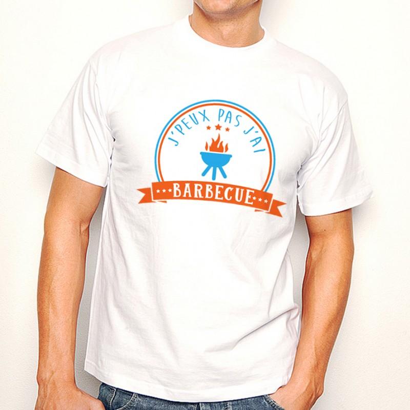 T-shirt J'peux pas j'ai...Barbecue