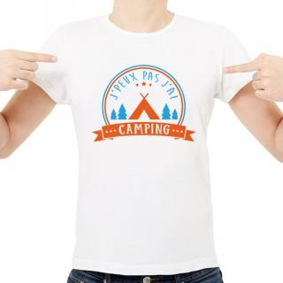 T-shirt J'peux pas j'ai...Camping
